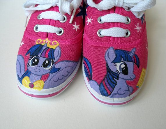 Hand painted My Little Pony Twilight Sparkle shoes