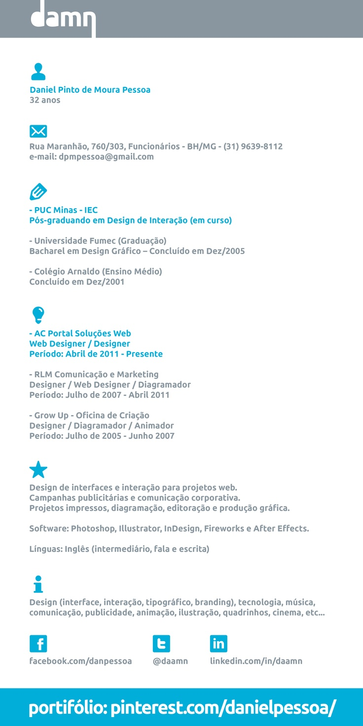 13 best resume images on Pinterest | Curriculum, Design process ...