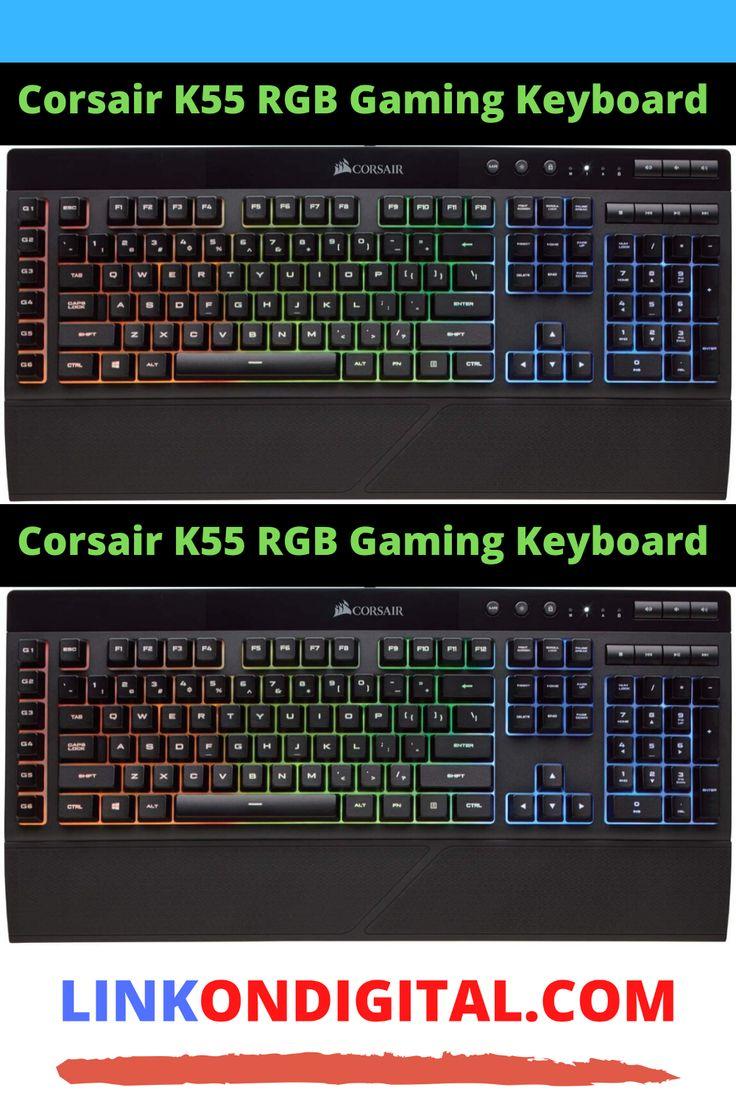 Corsair k55 rgb gaming keyboard keyboard macro keys games