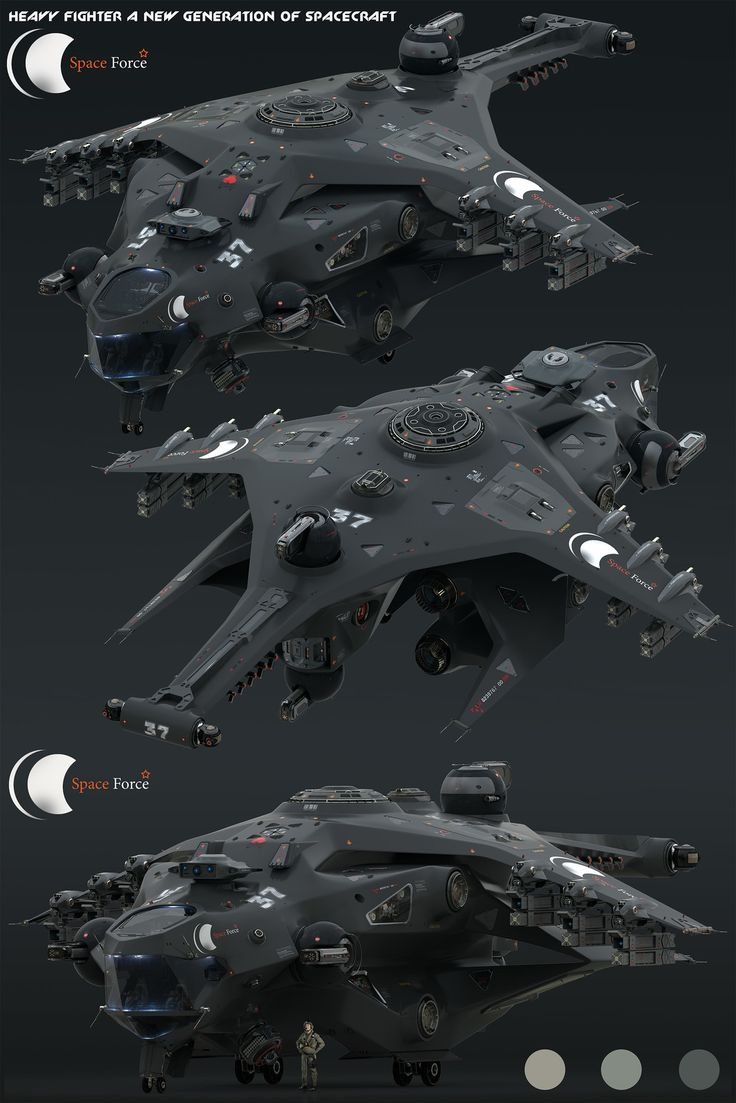 Heavy Fighter for Space Force, Oshanin Dmitriy on ArtStation at https://www.artstation.com/artwork/nO60X