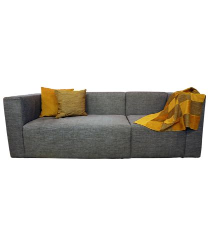 Homey Sofa Fabric Grey D.90 x L 2.20 x H.72 MH SO3 05 Designed by Salma Abdeldayem