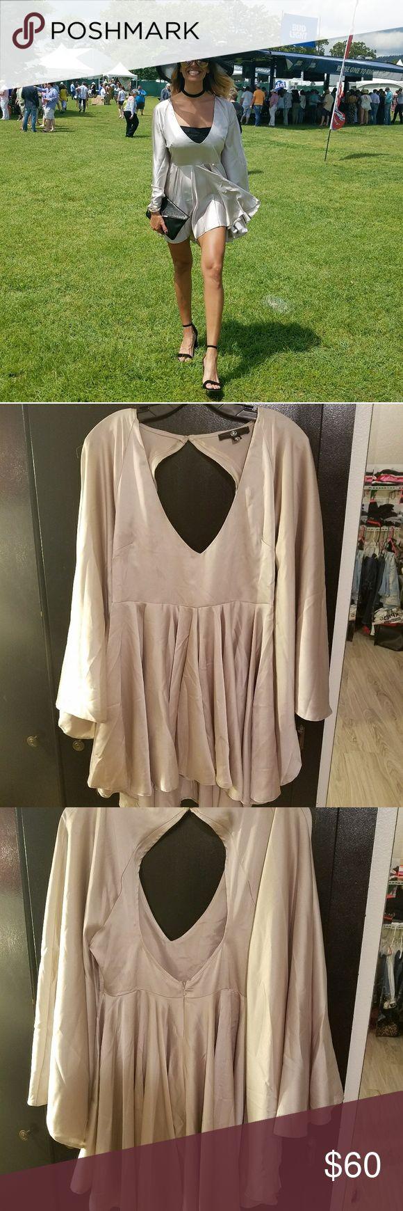 Elegant open back dress Slinky open back swing dress. Worn once. US 4, UK 8 Missguided Dresses High Low