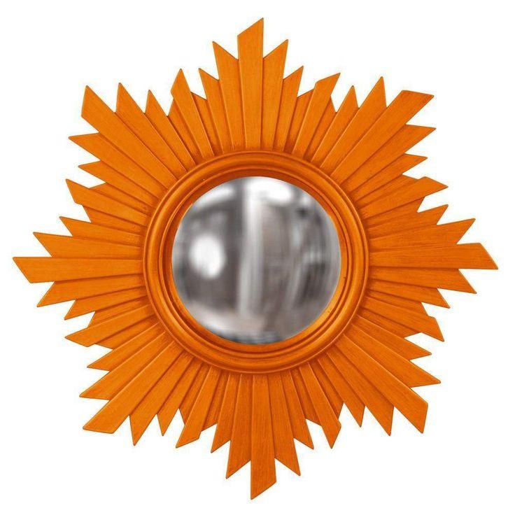 """Howard Elliott Euphoria Orange Mirror 21"""" Diameter x 1"""""""