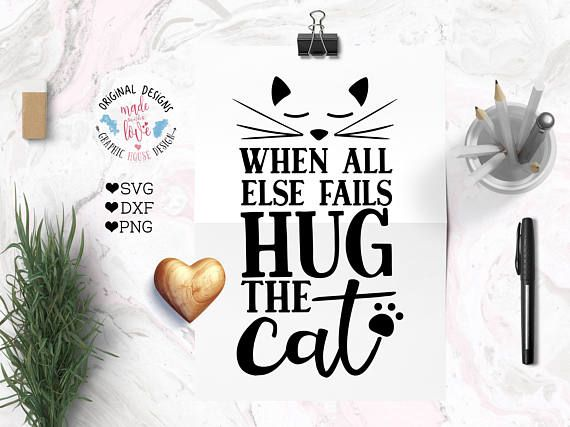 cat svg, pets svg, animals svg, when all else fails hug the cat svg cutting file… – signs
