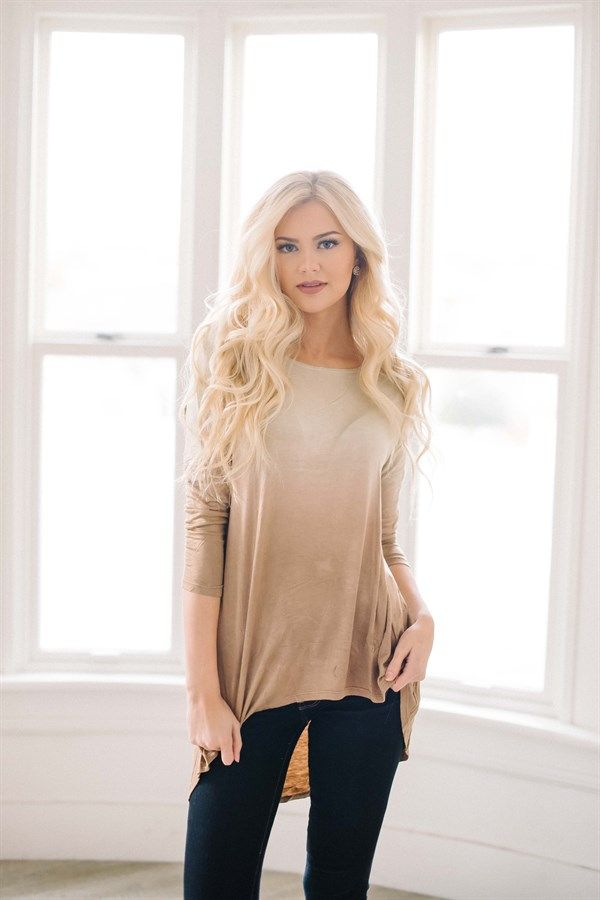 Don't forget the shopping angels love when you get great deals: Dip-dye top in 3 fabulous colors