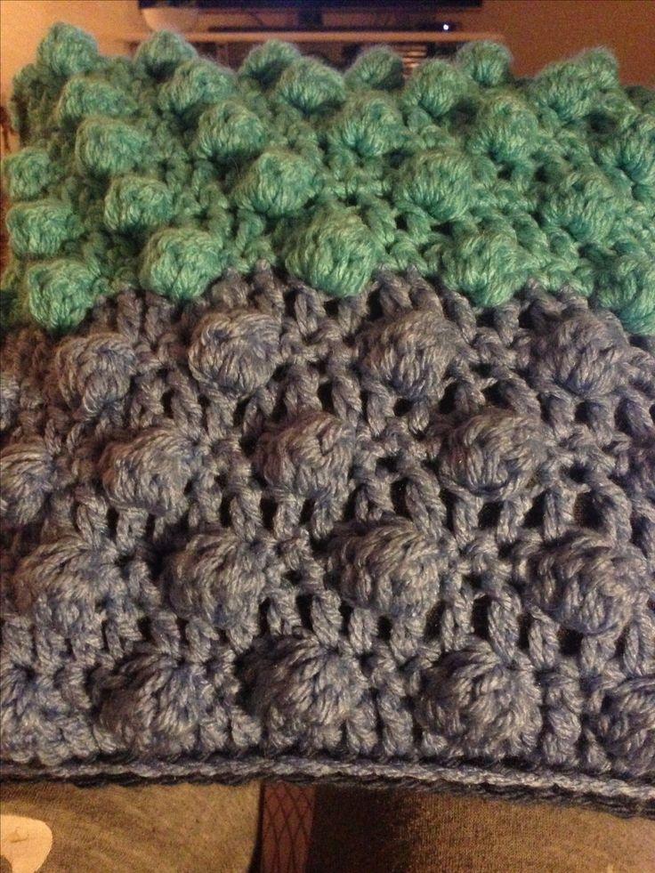 Boble stitch hæklet pude