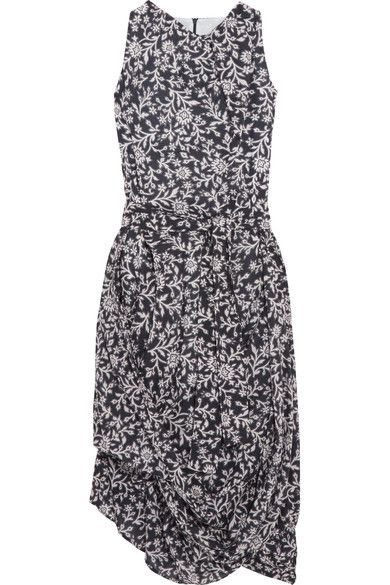 Vivienne Westwood Anglomania - Eight Draped Printed Cotton-voile Dress - Gray - IT38