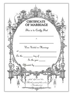 Keepsake marriage certificate template free download