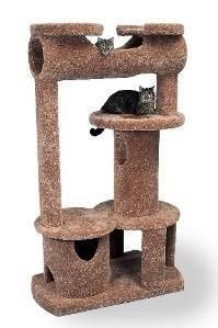 "Castle Royale - 42""x24"" contoured base x 72"" height, 160 lbs.  The Castle Royale has enough room for eight greedy cats. Take something from every design in our library and together comes the Castle Royale.  No fighting for the top on this one.  You will not find cat furniture this big fill space as effectively as the Castle Royale.  Where the cat is the King or Queen, nothing thrones royalty as well as the Castle Royale!"