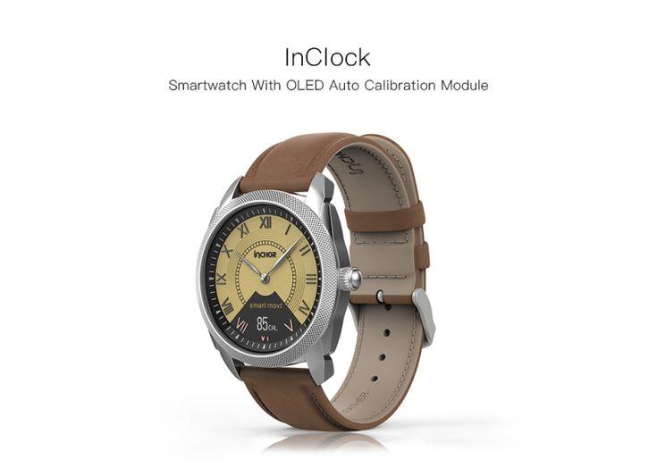 INCHOR InClock Auto Calibration Blood Measure Health Smart Watch Silver