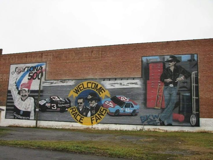 Nascar mural on State Street, Bristol Tennessee / Virginia