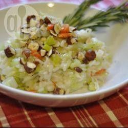 Recipe photo: Leek and hazelnut risotto