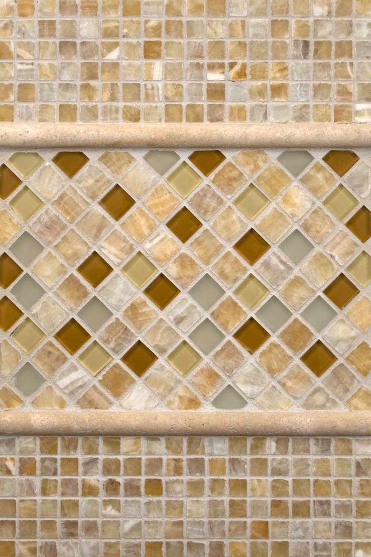 X Glass Tile Backsplash