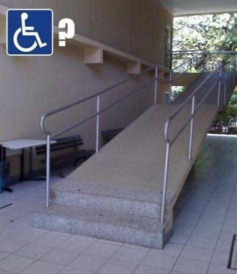 El diseñador de esta rampa para discapacitados…   21 diseñadores que arruinaron completamente su único trabajo