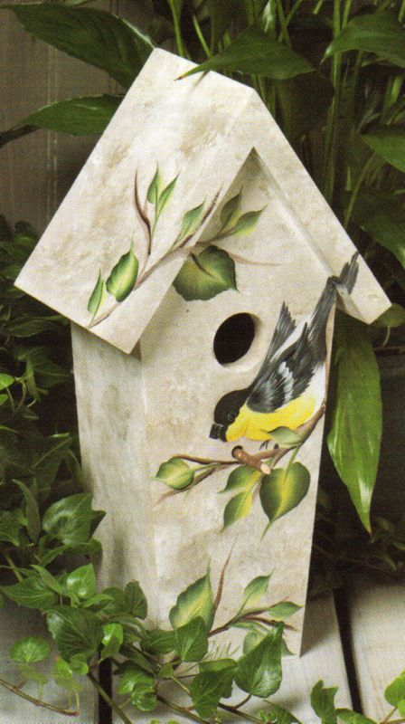 Hand painted birdhouse!
