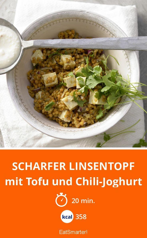 Scharfer Linsentopf - mit Tofu und Chili-Joghurt - smarter - Kalorien: 358 Kcal - Zeit: 20 Min.   eatsmarter.de