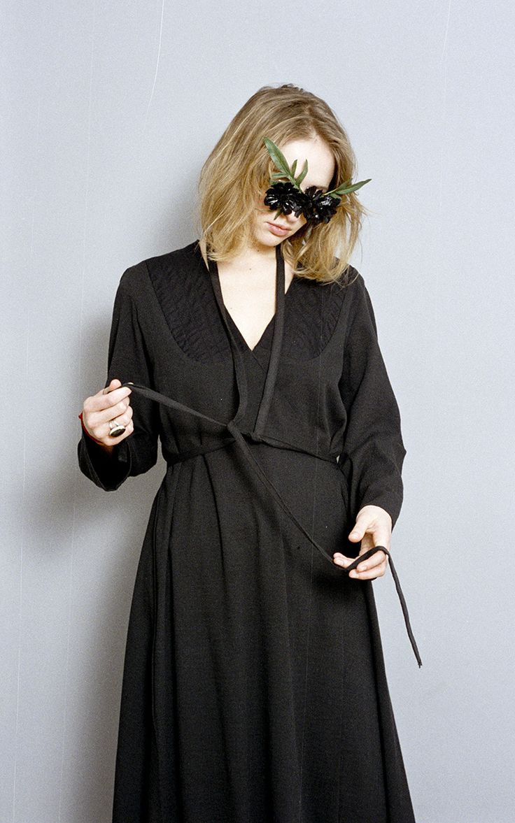 Flared-back kimono dress by To each his own Paradise