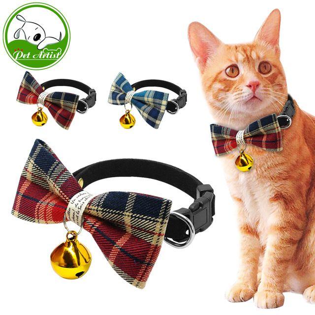 8 Colores bonito Moño Corbata Corbata Ajustable Mascotas Collar de perro Pequeño Perro Gato con Lazo