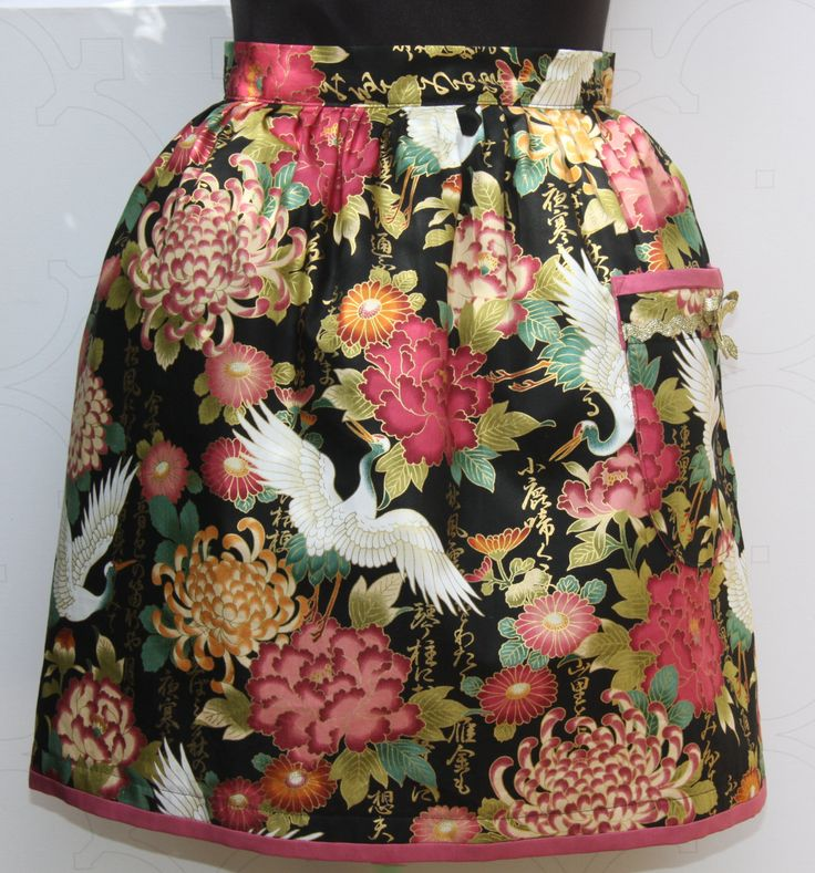 Nights of Orient ladies half apron by ALollyCreation on Etsy