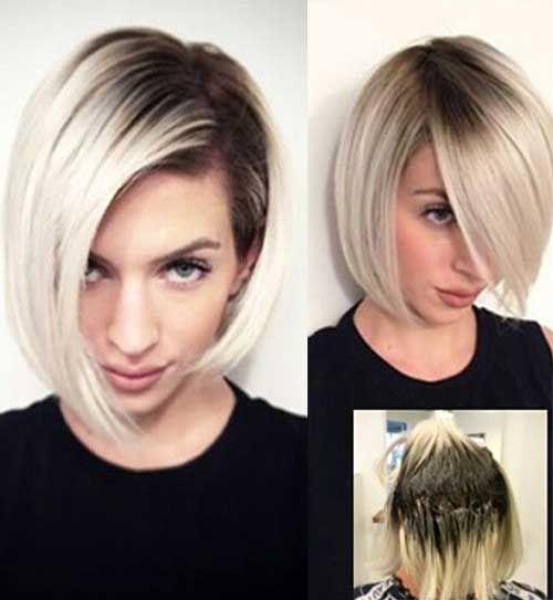 línea de corte cortes de pelo corto está tomando más de las puntas afiladas populares, al menos para las señoras con buena pelo corto texturizado ! El corte entrecortado, estilo bob en capas ha ascendido en la jerarquía de ser uno de los mejores cortes de pelo corto imprescindible! Para 2016 bobs, el estilo de …