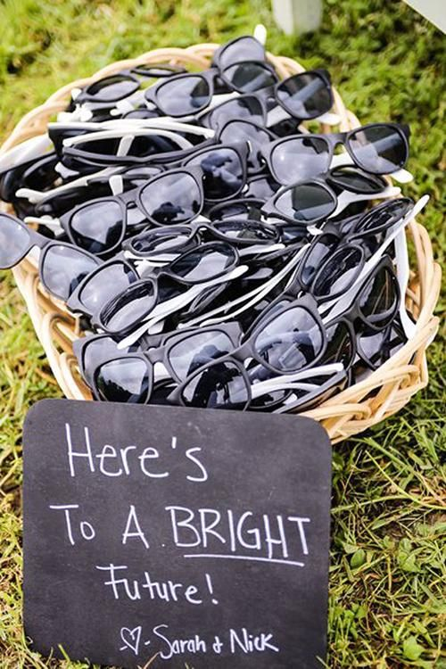 Sunglasses are helpful and affordable | Brides.com