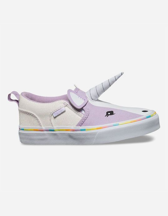 11d2632047 VANS Asher Unicorn Slip-On Girls Shoes