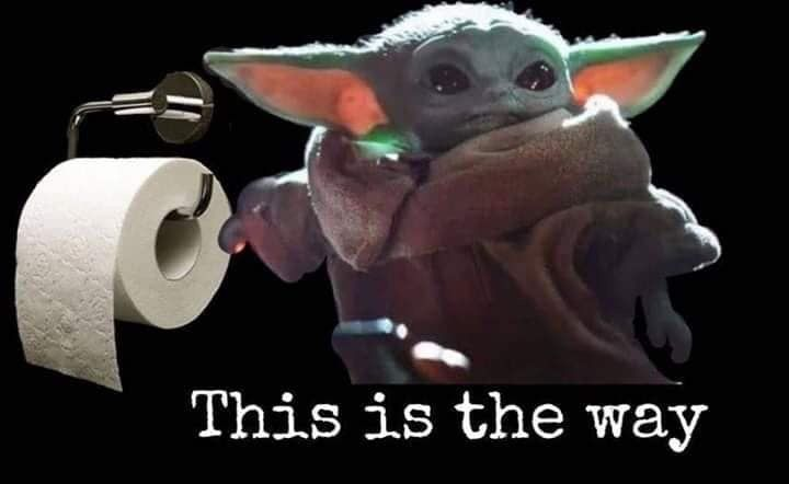 Baby Yoda Toilet Paper This Is The Way Yoda Funny Star Wars Quotes Star Wars Yoda