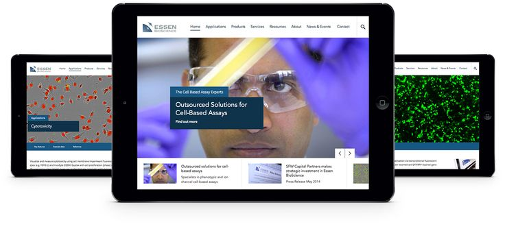 Responsive website mockup for global biotech company. #webdesign #marketing #design #biotech
