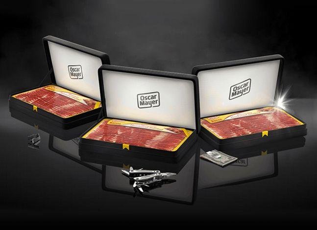 Get your dad BACON for father's day!! Hilarious but awesome!! Oscar Mayer Bacon Boxes