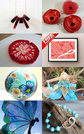 Treasury by Angelika Parker of Sparkys Glass Art on Etsy --Pinned with TreasuryPin.com