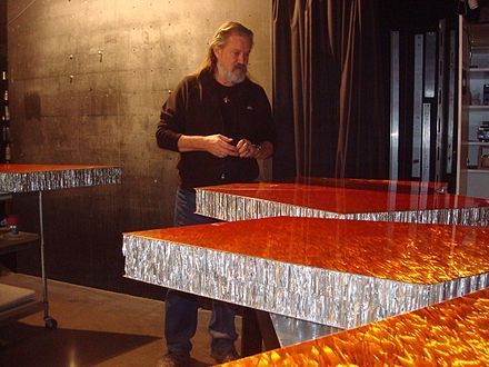 Andreas Nottebohm, born in 1944, is an American/German artist whose work is associated with Op Art,[1] visionary art, and Space Art. He is considered one of the key innovators of Metal Painting.