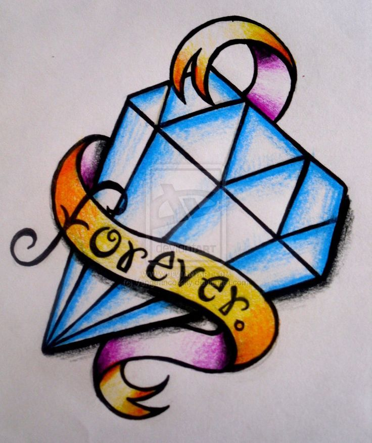 Diamond tattoo drawing | Art | Pinterest | Tattoo drawings ...