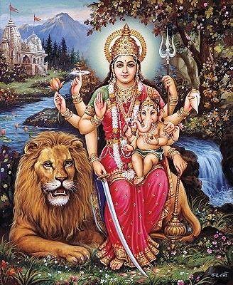 Durga and Baby Ganesha | Divine in 2019 | Durga, Durga ...