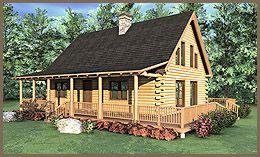 The Sonora Log Home Floor Plan