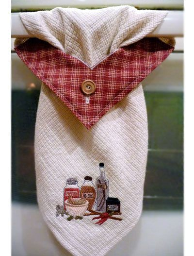 Free Project Instructions To Make A Stay Put Kitchen Towel. Skip The Button  And Button Hole