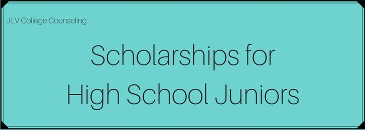 Scholarships for High School Juniors | JLV College Counseling