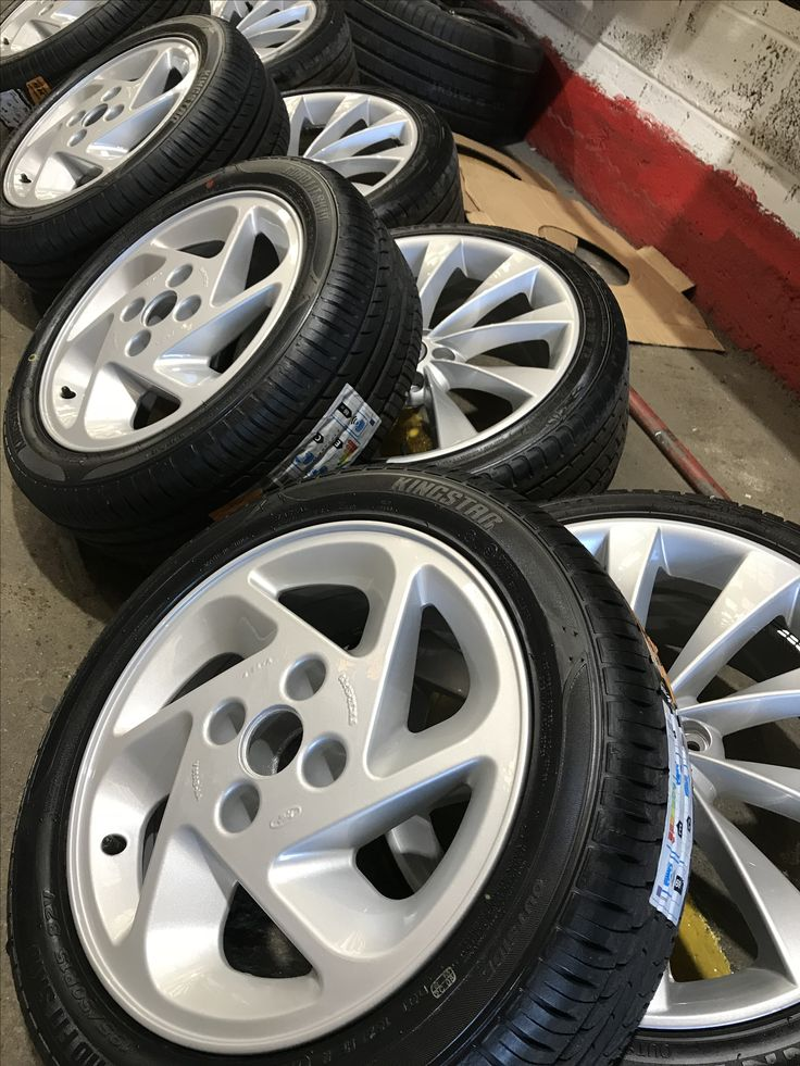 Very rare Ford Escort RS Turbo alloys in for refurbishing. Going on to a fully restored car they'll really look the part with some nice new tyres fitted.  Ask about our 10% off offers on the run up to Xmas. 028 3834 3724.