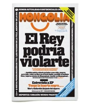 """El Rey podría violarte"", Mongolia argitalpen satiriko/informatiboa."