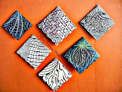 ▶ Come fare segnalibri origami in zentangle - YouTube