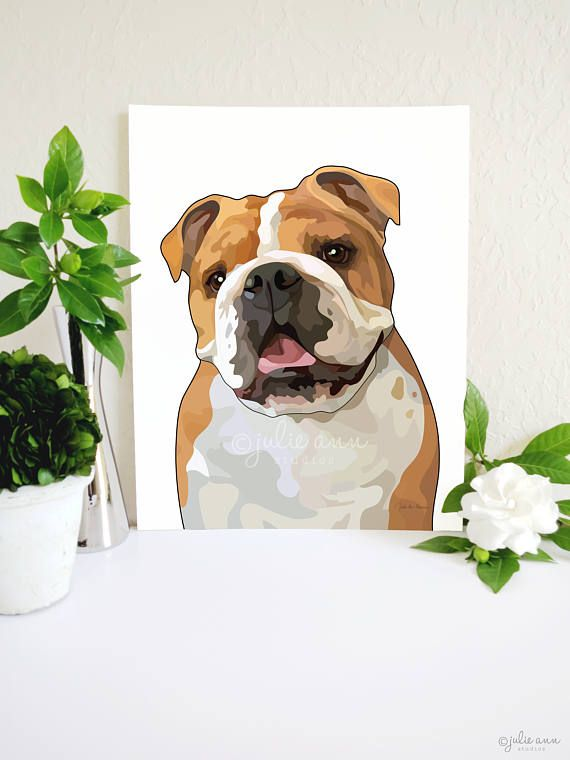 From the original bulldog illustration to the museum-quality paper, each detail has been carefully designed to create a piece of art you'll want beautifying your home for years to come.    -- English Bulldog Art Print, English Bulldog Gifts, English Bulldog Art, Bulldog Wall Art, Dog Lover Gift, Dog Breed Decor, Dog Art, Dog Decor