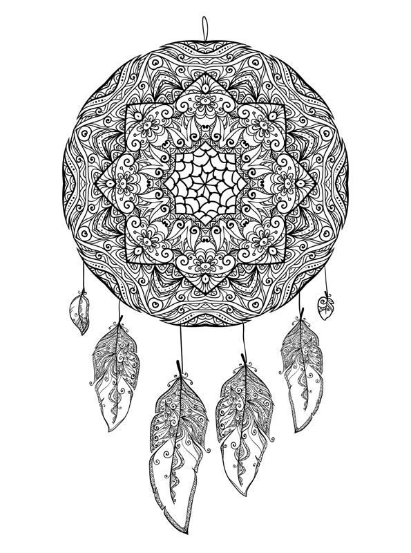 Spiderman Kleurplaat Uitprinten 134 Best Dreamcatcher Coloring Pages For Adults Images On