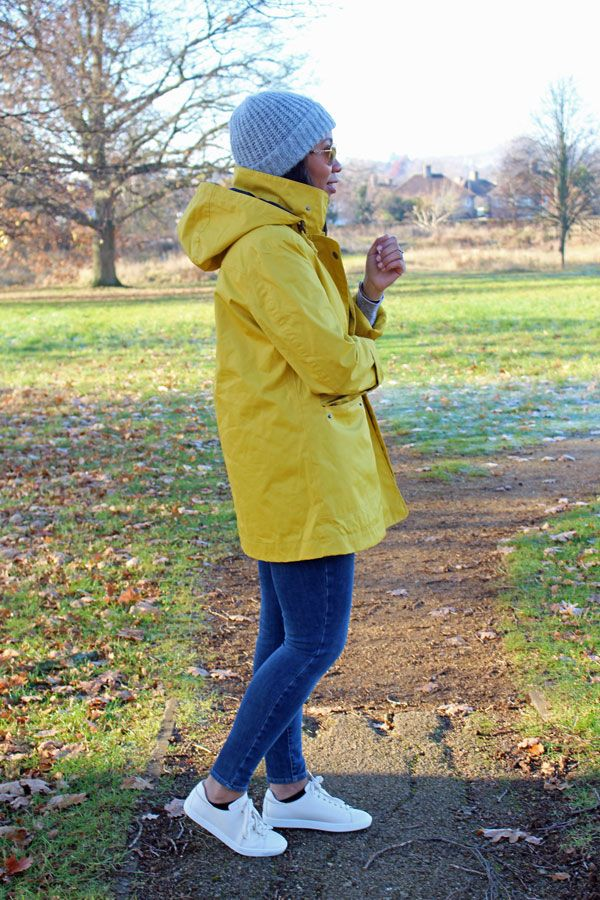 Seasalt yellow raincoat, sézane sneakers & ray-bans - The Cole Collection Blog