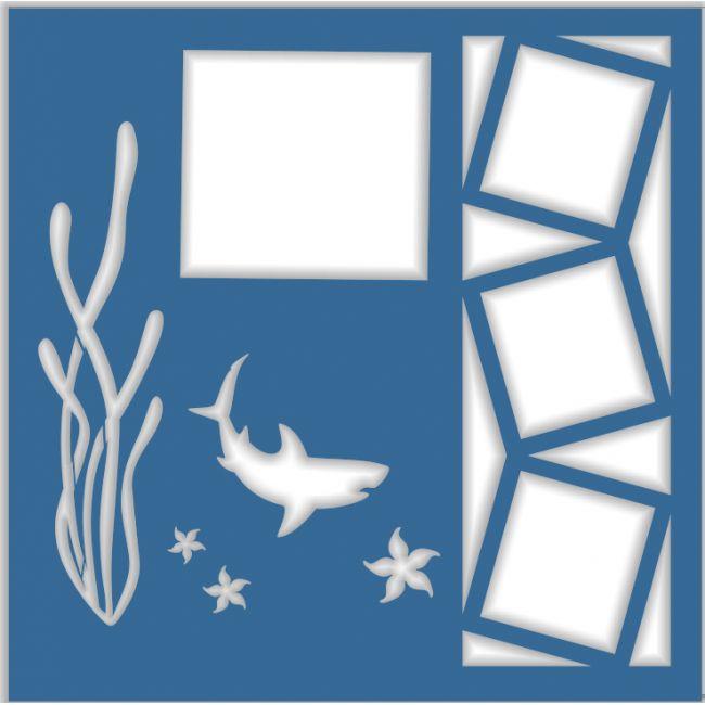 Sea Life 2 - Lase Die Cut Scrapbook Overlay