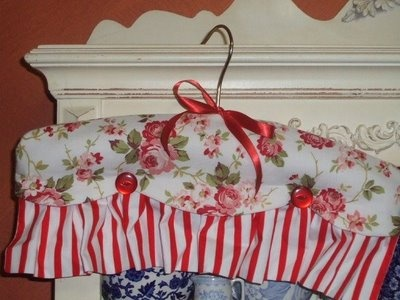 Can never have enough covered coat hangers, by Cabbage Quilts