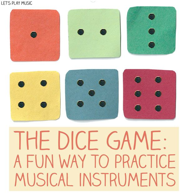This is a great way to encourage little ones to practice! First Piano lessons : The Dice game