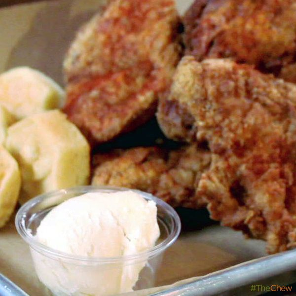Honey Butter Fried Chicken by Joshua Kulp and Christine Cikowski from Honey Butter Fried Chicken in Chicago! #TheChew #FriedFood