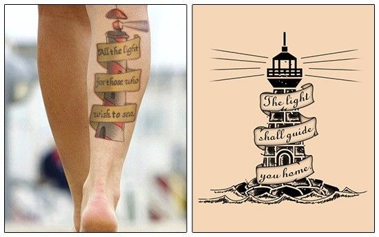 Lighthouse tattoos with quotes