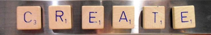 Magnetic Scrabble Letters. Cute fridge decoration