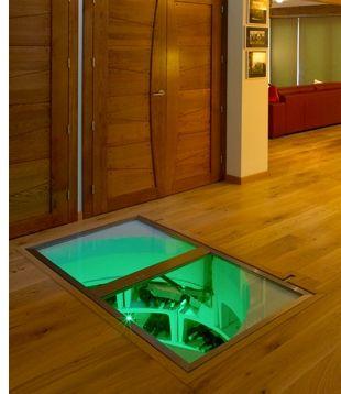 trap door to spiral wine cellar