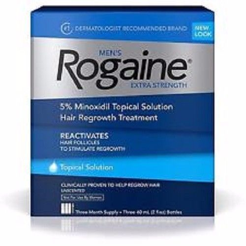 Rogaine Men's Extra Strength Solution 3-mo Hair Regrowth Treatment Follicle  #McNeil